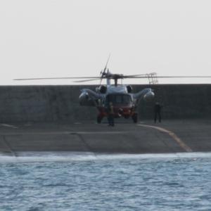 海自ヘリによる救難訓練