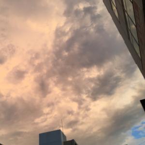 今日の大阪の夕焼け