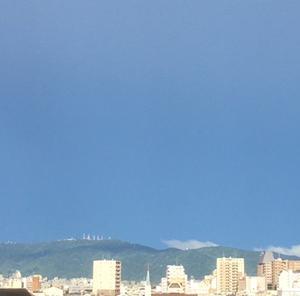 生駒山に雲が