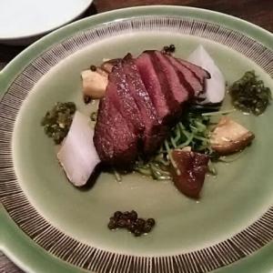 ジビエを楽しむ北京料理 6. 蝦夷鹿の炙りは香りと旨味♪