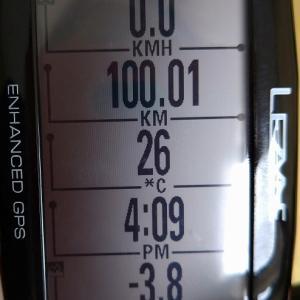 100キロ走った!