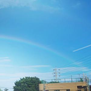 虹の向こうに。