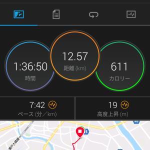 今日のジョギング(12km・五日ぶり)