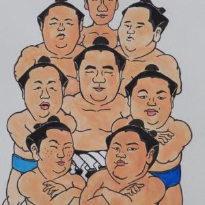 横綱・鶴竜と付け人たち