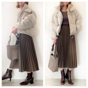 【UNIQLO】丈感が最高の季節なユニクロスカート/私のブログとカニ(笑)