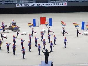【吹奏楽部】『マーチングバンド岡山県大会』金賞受賞!中国大会へ!!
