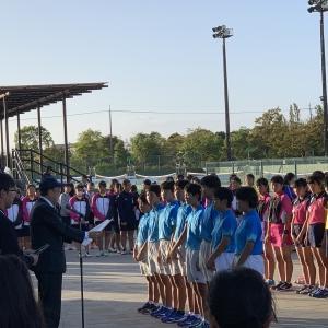 中学ソフトテニス部 備前西地区団体戦 優勝!