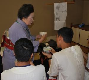 タイからの留学生の茶道体験!