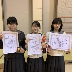 中学校表彰式
