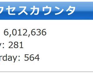 6,000,000hit 達成御礼!