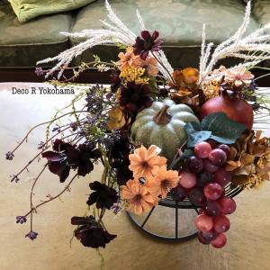 レッスン、レッスン〜!実りの秋のコンポートアレンジメント &彼岸花が満開です!