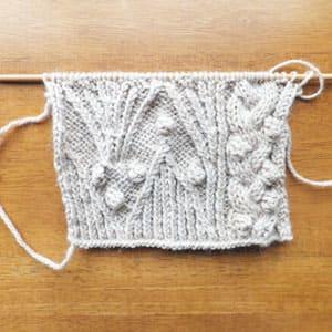 試し編み中。