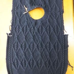 セーター、衿ゴム編み
