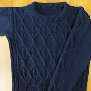 セーター、完成しました。