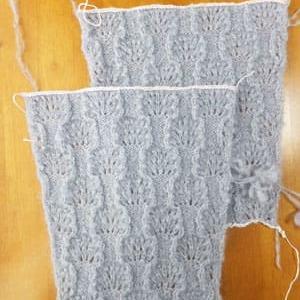 両袖そしてゴム編み