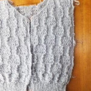 ゴム編み、終了。