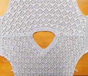 ゴム編み、すべて終了。