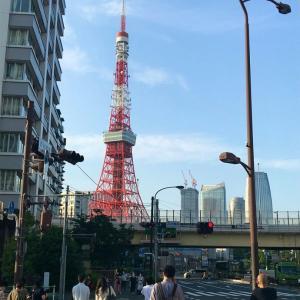 東京タワーと夕焼け