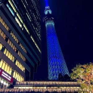 瑠璃色の東京スカイツリー