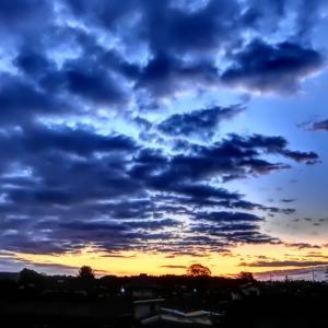 【2019年10月16日】 那珂川氾濫:水戸市飯富町 国交省排水ポンプ車の排水のお陰でようやく水が引いてきました。/ フィットネス&LSD練習 (水曜日)