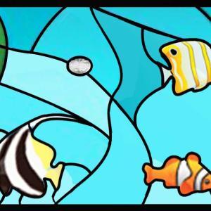 熱帯魚の図案