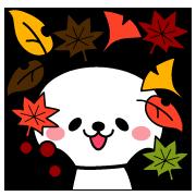 秋パンダ♡絵文字