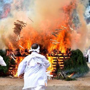 火渡り神事(南魚沼市の八海山尊神社)