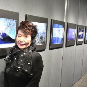 山崎君枝さんの写真展(今日21日が最終日)