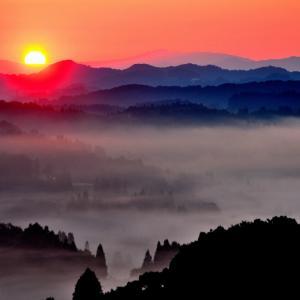 ふる里の朝景色