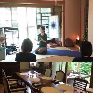 古嶋で、ヨガ講座、ホルモンバランス呼吸法を取り入れよう。