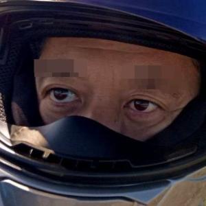 こちんさん、バイクでツーリング