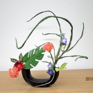 エンコウスギの曲線で、面白い自由花