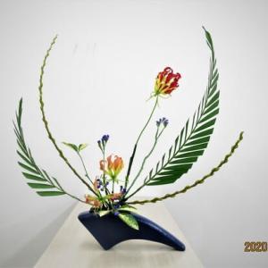 アレカヤシ・キンメヤナギ・・グロリオーサと楽しい自由花