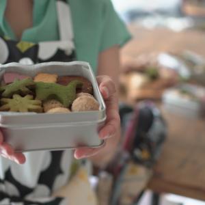 米粉クッキー缶開ける楽しみ!