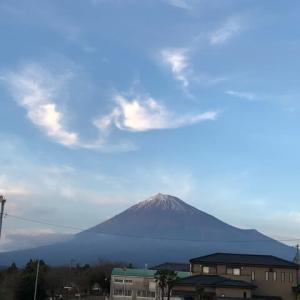 ここから見える富士山は見納めです