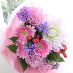ピンク系花束♪