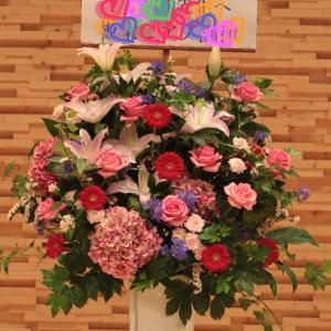 ピアノ発表会にスタンド花!
