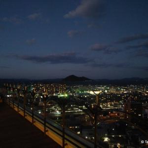 四国八十八景、花樹海からの夕景