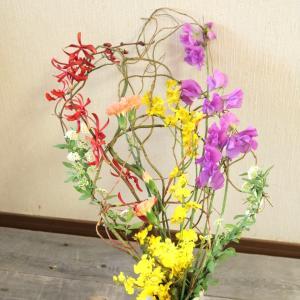 水平に広がるお花
