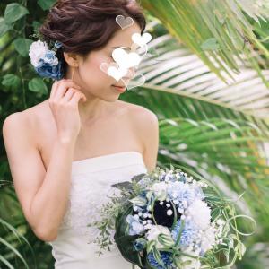 美しい花嫁様のお写真を頂戴しました。