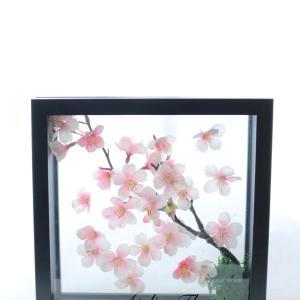 桜の3D額アレンジ