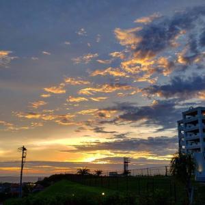久々の夕陽