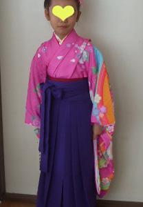 女子袴姿 卒園式です