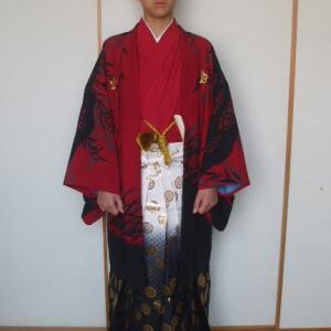 男子袴姿 小学校の卒業式です