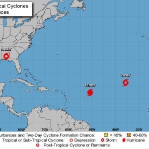 ハリケーン「サリー」は熱帯性低気圧に