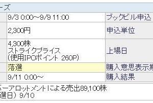 ★IPO★サイバー・バズ SBIポイント使用しました!