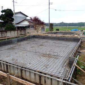 玉川建築工業所新事務所新築工事  基礎配筋が終えました
