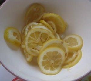 レモン酢の残りで ~ 🍋