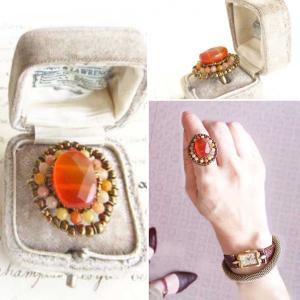 イメージ通りでとても素敵なリングで大変満足!カーネリアンリングとブルータイガーアイリング(指輪)