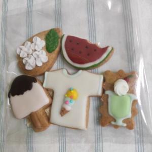 夏のアイシングクッキー / 奥市川辺り